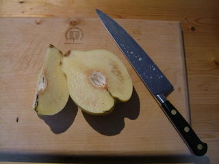 sliced quince