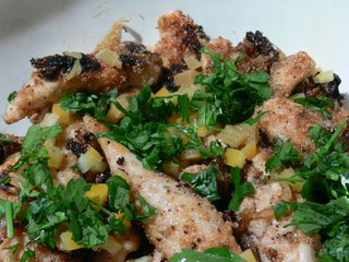 Chicken with cardamom and preserved lemons