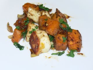 Sweet potato and halloumi