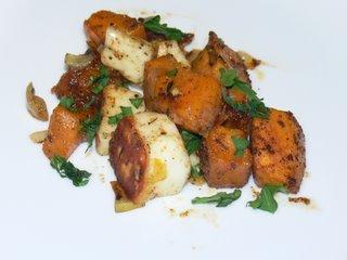 Sweet potato and halloumi