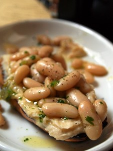 White bean bruschetta