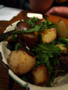 Duke of York potatoes with parsley and ramps