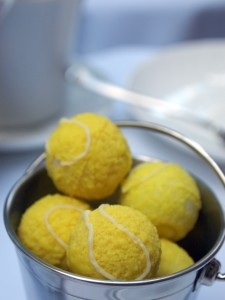 Tennis ball truffles