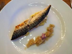 Mackerel, artichoke, shallots