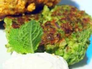 Pea and edamame falafel