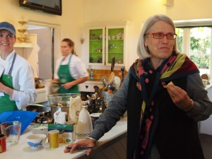 Darina in one of the teaching kitchens