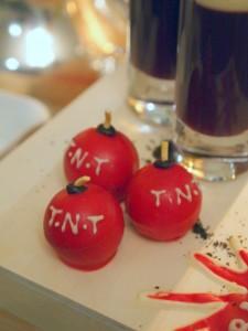 Cherry bomb truffles