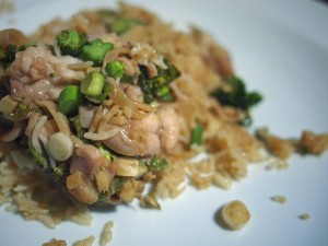 Steamed ginger chicken rice