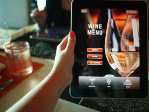 The wine list and menu at Qsine are handed to you on an iPad.